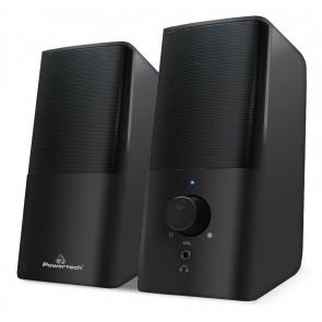 POWERTECH ηχεία Premium sound PT-847, 2x 3W, 3.5mm, μαύρα
