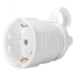 POWERTECH φις ρεύματος PT-887, 1x schuko, 16A, λευκό