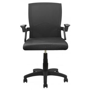 POWERTECH Καρέκλα γραφείου PT-963, ρυθμιζόμενη, με υποβραχίονια, μαύρη