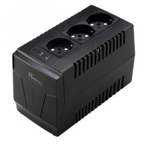 POWERTECH σταθεροποιητής ρεύματος 1500VA, με 3 εξόδους πρίζας