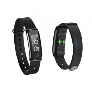 Q-BAND Heart Fitness Band Q-68HR, με Smart Notification, Black