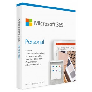 MICROSOFT Office 365 Personal QQ2-00989, English, medialess P6, 1 έτος