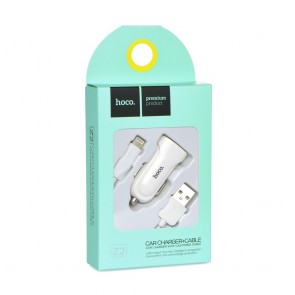 HOCO car charger set with Lightning cable Z2 white