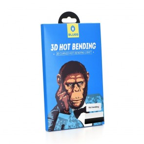 3D Mr. Monkey Glass - Samsung Galaxy S9 black (Hot Bending)