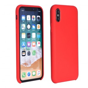 "Forcell Silicone Case for IPHONE XS Max ( 6,5"" ) red (with hole)"