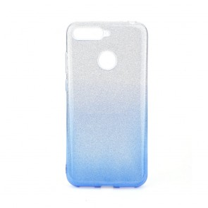 Forcell SHINING Case Huawei Y6 PRIME 2018 clear/blue