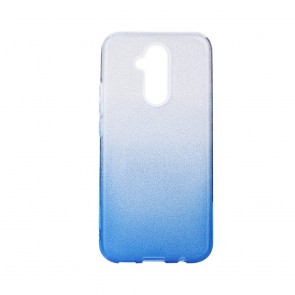 Forcell SHINING Case for HUAWEI Mate 30 LITE clear/blue