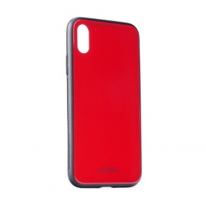 """GLASS Case for IPHONE XS ( 5,8"""" ) red"""