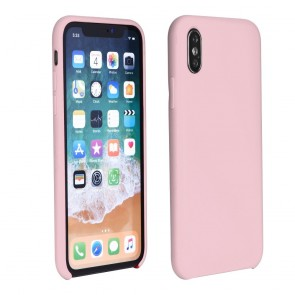 """Forcell Silicone Case for IPHONE XS Max ( 6,5"""" ) pink (with hole)"""
