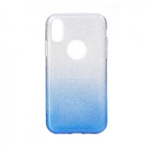 Forcell SHINING Case for SAMSUNG Galaxy M20 clear/blue