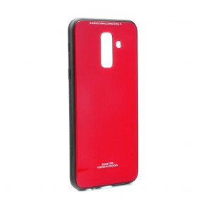GLASS Case for SAMSUNG Galaxy A9 2018 red