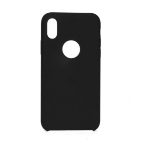 """Forcell Silicone Case for IPHONE XS ( 5,8"""" ) black (with hole)"""