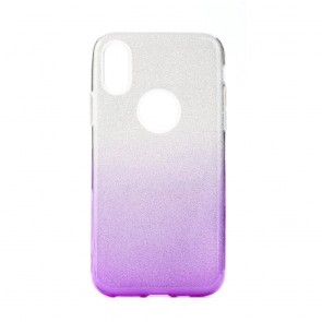 Forcell SHINING Case for SAMSUNG Galaxy A41 clear/violet