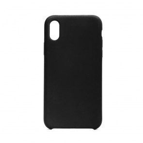 Forcell Silicone Case for IPHONE X black (without hole)