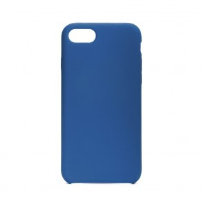 Forcell Silicone Case for IPHONE 7 / 8 dark blue (without hole)