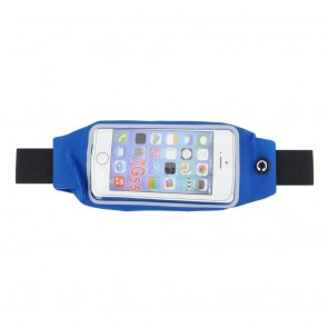 Multifunction waist bag with pockets with window blue