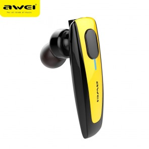 Buetooth Earphone AWEI N3 multipoint yellow