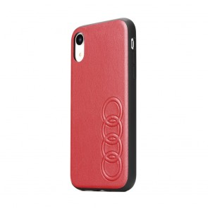 Original AUDI Leather Case AU-TPUPCIPXS-TT/D1-RD iPhone X/Xs red