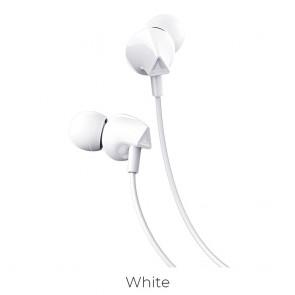 HOCO earphones M60 Perfect sound universal earphones with mic white