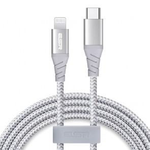 ESR kabel MFI type C (POWER DELIVERY) - Ipho Lightning Cable silver