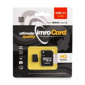 Memory Card Imro microSD 128GB with adapter / Class 10 UHS3