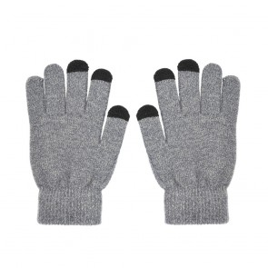 Touch screen gloves TRIANGLE for Woman grey