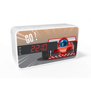 BIGBEN Ξυπνητήρι RR15CAR, Dual alarm, FM Radio, LED display, λευκό