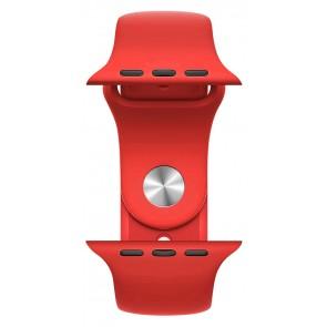 ROCKROSE band σιλικόνης Rough Jade για Apple Watch 42/44mm, κόκκινο