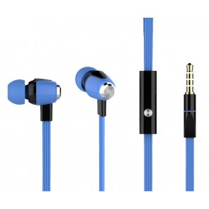 CELEBRAT ακουστικά HANDSFREE (ON/OFF) Plastic+TPE - BLUE
