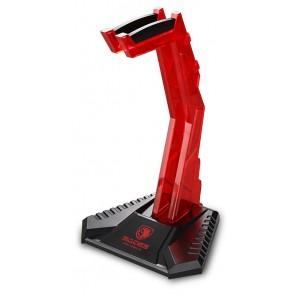 SADES ατομικό Stand W10 Anubis Staff για headset, USB 3.0, LED, κόκκινο