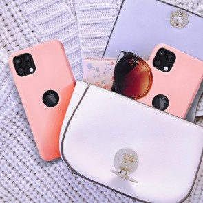 Forcell Silicone Case for IPHONE 12 / 12 PRO pink (with hole)