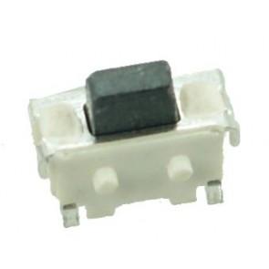 SMD Button - 2 PIN, Nickel, Silver/Black