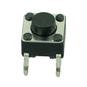 DIP SWITCH 4 PIN, Nickel Body, Plastic Button, Silver/Black