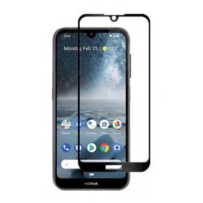 POWERTECH Tempered Glass 5D, Full Glue, Nokia 2.2, μαύρο
