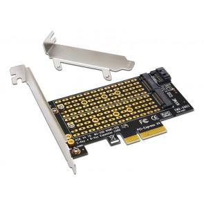 POWERTECH Converter M.2 Key M & B NVMe σε PCIe x4 TOOL-0049