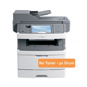 LEXMARK used MFP Printer X466de, Mono, Laser, με drum, no toner