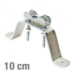 VIKAR Βάση τοίχου 21002 για στήριξη ιστού, ατσάλινη, 10cm