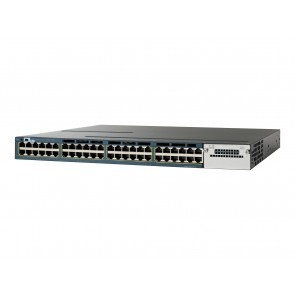 CISCO used Catalyst Switch WS-C3560X-48T-S, 48 ports PoE, managed