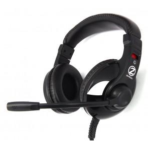ZALMAN gaming headset ZM-HPS200, 3.5mm, 40mm, μαύρο